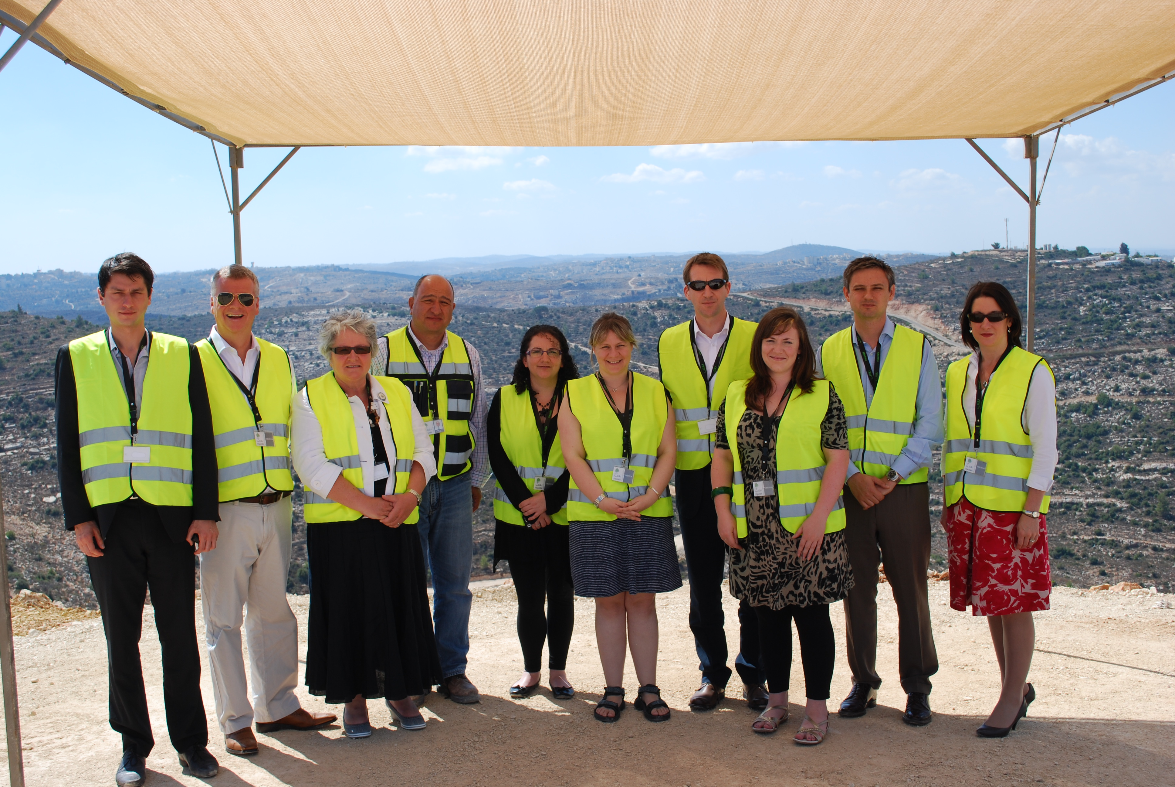 Labour MPs at the Rawabi city construction site, the largest private sector project in Palestinian history