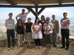 Anne McGuire and others on Israeli's border with Lebanon