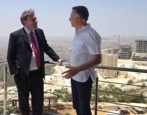 Ed Balls and Bashar Masri at Rawabi